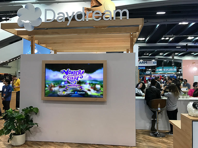 Resolution Games' Wonderglade at the GDC Google booth